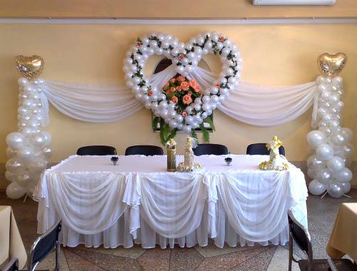 Украшения свадебного зала своими руками фото